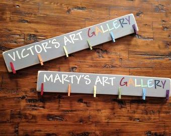Custom Personalized Art Gallery Art Display Board Wood Sign Brag Board