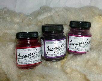 Jacquard Acid Dyes, one half ounce jars