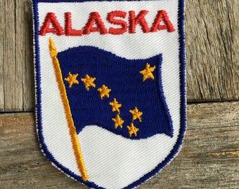 LAST ONE! Alaska Flag Vintage Souvenir Travel Patch from Voyager