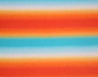 Gradient Rainbow Cotton Spandex Blend Knit Fabric **UK Seller**