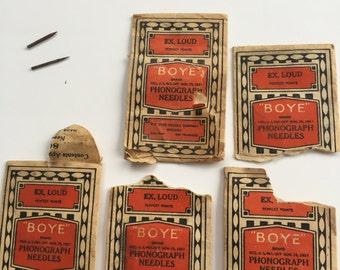 Boye Phonograph Needles Ex Loud Old and Rusty