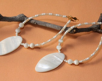 "5"" L ,  Mother of Pearl Shell Spear, dangling earrings"