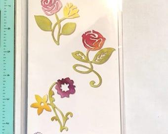 Sunrise Blossoms Flower Set Sizzlits by Sizzix - New 658070