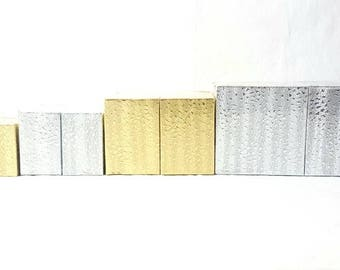 Metallic Cotton Filled Boxes