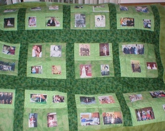 48 photo memory quilt - you choose style and color