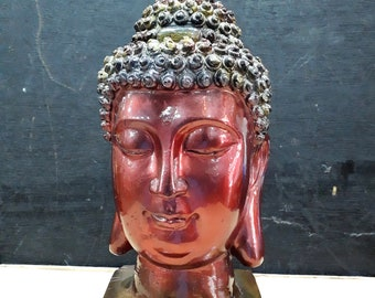 Buddha Head - Dark Pink