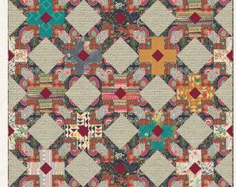 "Folklore Quilt Kit - fabrics by Pat Bravo 72"" x 72"""