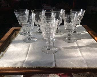 Set of 8 1930s Goblets!