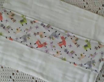 Burp cloth, diaper cloth burp rag with printed panel.