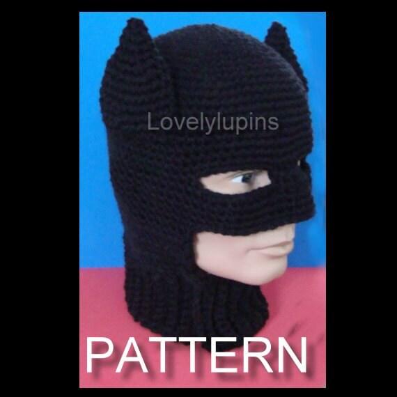 Crochet batman hat pattern costume adult beanie batman crochet batman hat pattern costume adult beanie batman skullcap chapeau homme crochet pattern dt1010fo