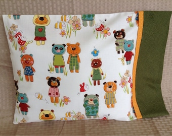 Fun Bears travel pillowcase