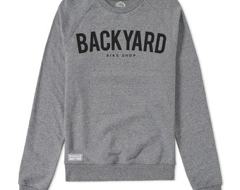 BACKYARD SWEATER GREY (Black print)