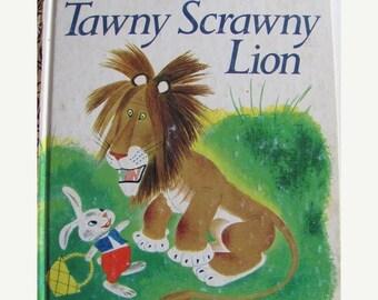 ON SALE Tawny Scrawny Lion -  Classic Vintage Little Golden Book - 1975 edition