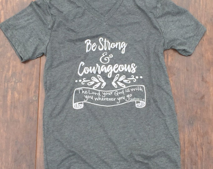Be strong and courageous youth shirt for Brock