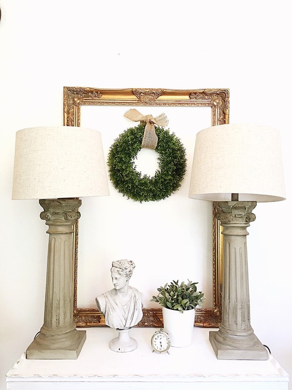 tall pillar table lamps set of 2 colonial living room