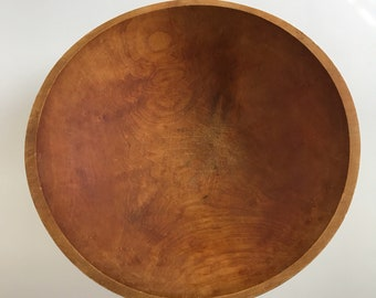 LARGE VINTAGE WOOD Bowl