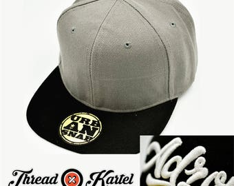 Custom 3D Puff Personalised Embroidered GREY cap