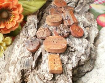 Driftwood Craft Buttons
