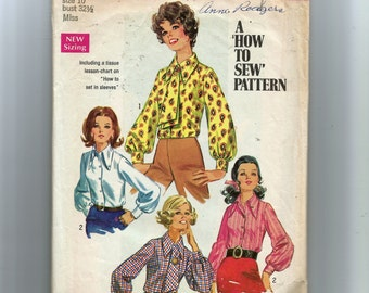 Simplicity Misses' Blouse and Ascot Pattern 8299