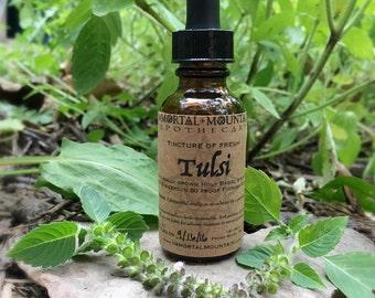 Séché Tulsi teinture - ayurvédique extrait de plante à base de plantes