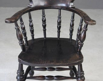 Smokers Bow Captains Study Office Chair