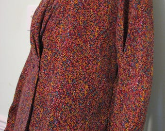 1980s Blouse Helene St.Marie Long Sleeve Confetti Abstract Size 14