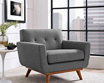 ENGAGE Chair Mid Century Modern Style sofa in 6 colours  Ready to ship!