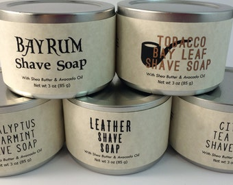 Natural Shave Soap, Travel Tin, Shave Soap, Shave Kit, Shave, Natural Soap, Retro Shave, Wet Shave Soap, Gift for Him, Father's Day Gift
