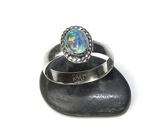 Brilliant LC Opal Ring in Sterling Silver Ring R152
