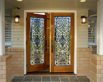 Stained Glass Decals Etsy - Vinyl decals for glass doors