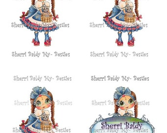 Instant Download MB Dorothy Besties of oz colored printables  3D Decoupage kit Besties Big Head Dolls Digi By Sherri Baldy