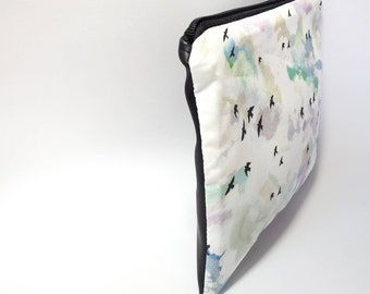 Swallows Cotton pouch bag and back in black vegan leather