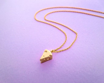 Lovely, Cheese, Gold, Necklace, Cute, Yummy, Cheese, Necklace, Birthday, Friendship, Mom, Sister, Gift, Jewelry