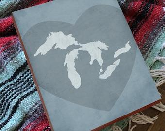 Great Lakes Art - Great Lakes Map - Great Lakes Print - Great Lakes Wall Art - Map of Great Lakes