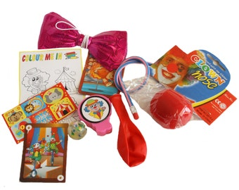 Circus Party Bag with 9 items included