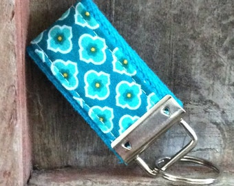 READY To Ship-MINI-MINI Keychain-small medallions on turquoise