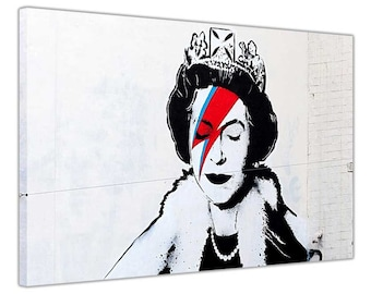 Banksy Queen Diamond Jubilee Framed Prints Canvas Art Pictures Home Decoration Posters Graffiti Wall Mural