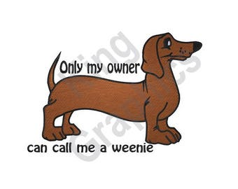 Dog - Machine Embroidery Design, Dachshund, Wiener Dog