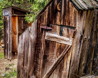 Farmhouse Home Decor Outhouse Rustic Bathroom Decor Bathroom Photography Bathroom Art Print Outhouse Photography Print Bathroom Wall Art