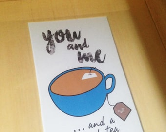 FRAMED you and me ...and a cup of tea print  by Rachael Partis Design