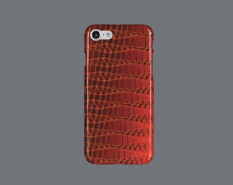 Abstract Collage Red Art Minimalism iPhone 6 Case Red Art Minimalism iPhone 7 Case Red iPhone 8 Case Top Selling Gift for Her Gift For Him