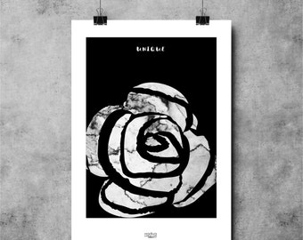 Poster MARBLE ROSE 30X40