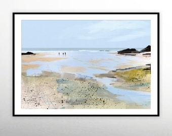 Beach Art, Beach Prints, Surf art, Printable Minimal Art Prints, Large Printable Art, digital download art, ocean art, abstract wall art A1