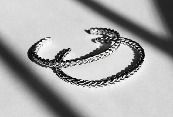 Solid Sterling Silver Braid Bracelet