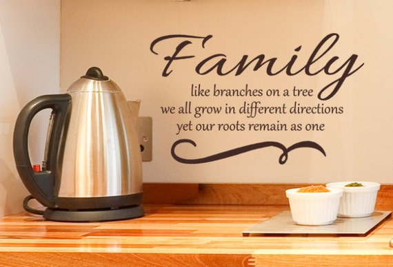 Like Branches On A Tree Quote: Family Wall Quote Decal Like Branches On A Tree We All Grow