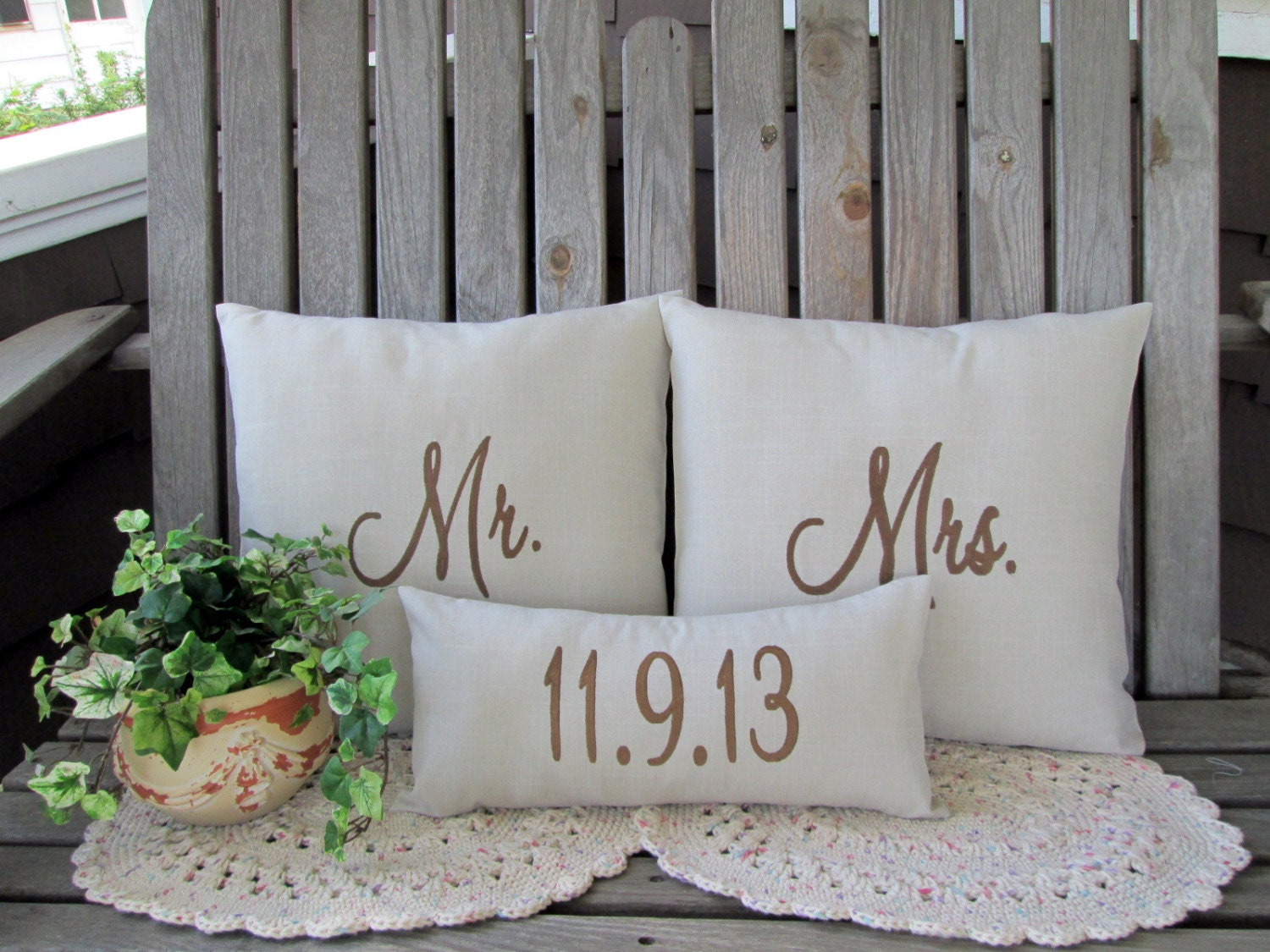 Mr Mrs Wedding Gifts: Mr & Mrs Pillow Cover Mr And Mr Or Mrs And Mrs Custom