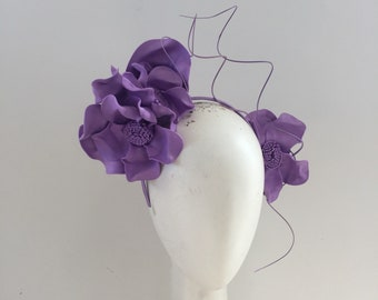 Lilac Fascinator , Ascot, Melbourne Cup, Spring racing, Fascinator , headpiece, fancy hat, races Fascinator