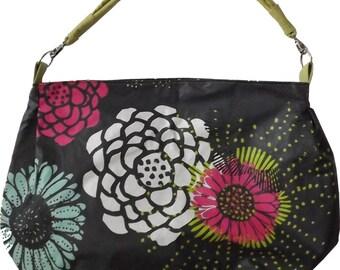 Grey floral bag