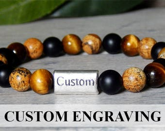 Engraved Mens Bracelets, Engraved Jewelry, Mens Gifts, Personalized Bracelet, Custom Jewelry, Engraving, Gifts for Men, Engraved Bracelet