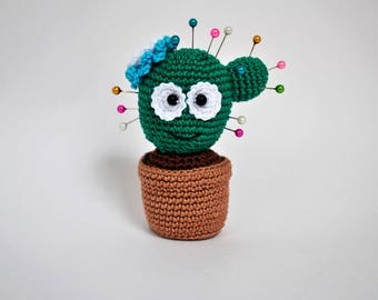 cactus, knitting toy, Needles, amigurumi, crocheted toy, interior toy